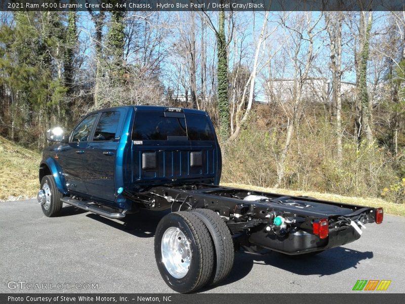 Hydro Blue Pearl / Diesel Gray/Black 2021 Ram 4500 Laramie Crew Cab 4x4 Chassis