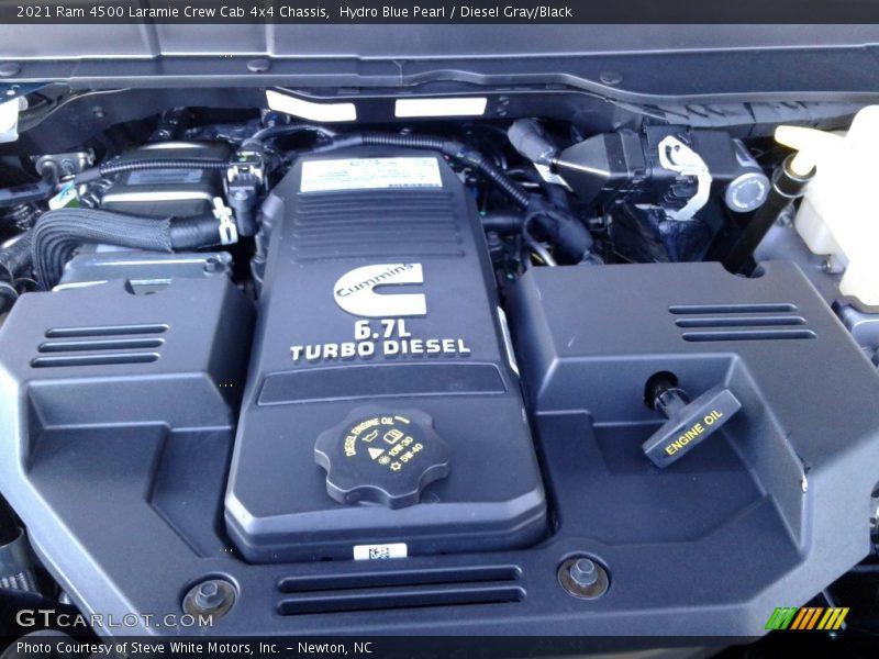 2021 4500 Laramie Crew Cab 4x4 Chassis Engine - 6.7 Liter OHV 24-Valve Cummins Turbo-Diesel Inline 6 Cylinder