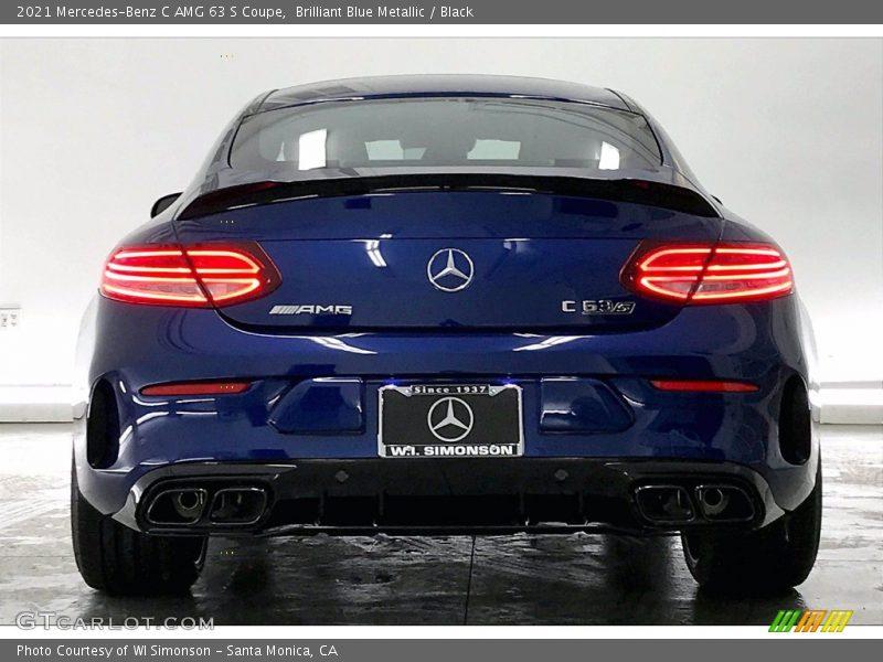 Brilliant Blue Metallic / Black 2021 Mercedes-Benz C AMG 63 S Coupe