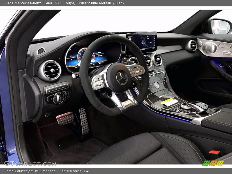2021 C AMG 63 S Coupe Black Interior