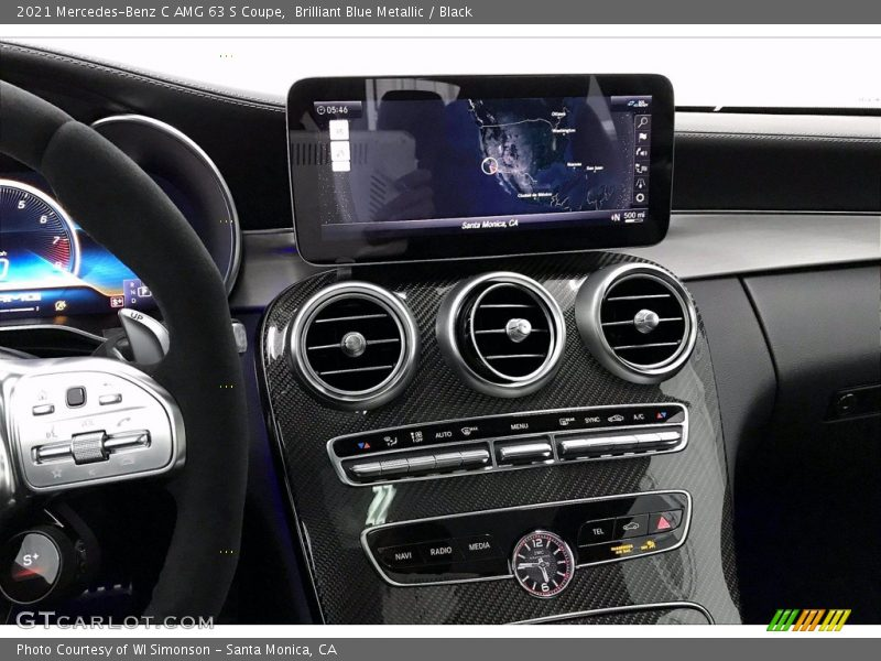 Controls of 2021 C AMG 63 S Coupe