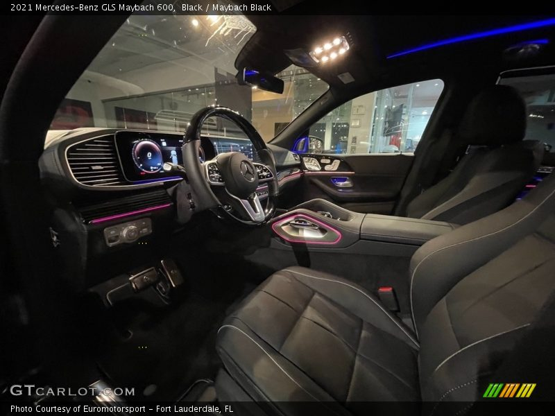 Front Seat of 2021 GLS Maybach 600