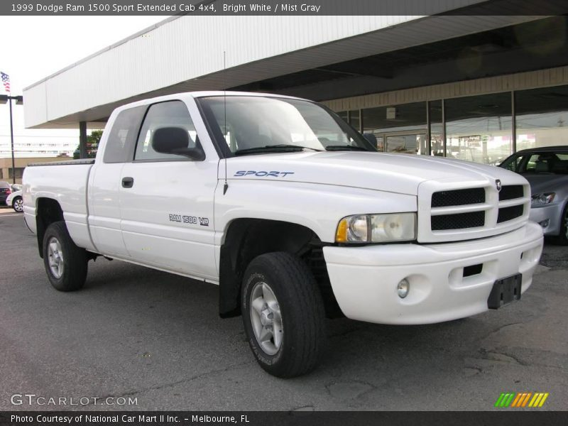 1999 dodge ram 1500 sport extended cab 4x4 in bright white photo no 14176716. Black Bedroom Furniture Sets. Home Design Ideas