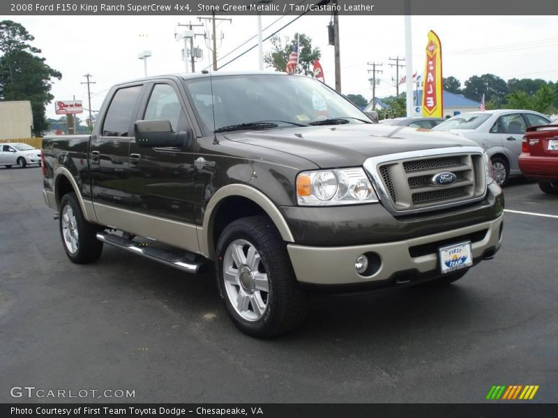 2008 ford f150 king ranch supercrew 4x4 in stone green metallic photo no 14244635. Black Bedroom Furniture Sets. Home Design Ideas