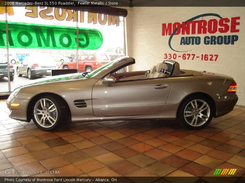 2008 mercedes benz sl 550 roadster in pewter metallic for G stone motors used cars