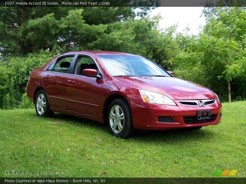 Moroccan Red Pearl / Gray 2007 Honda Accord SE Sedan