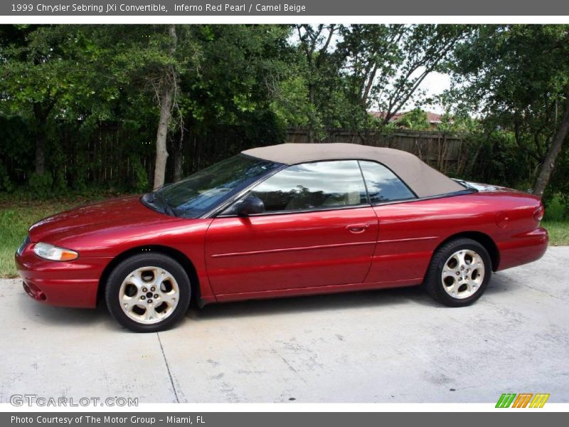 1999 chrysler sebring jxi convertible in inferno red pearl. Black Bedroom Furniture Sets. Home Design Ideas