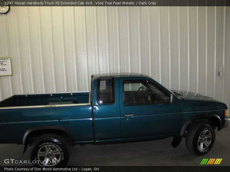 1997 nissan hardbody truck xe extended cab 4x4 in vivid teal pearl metallic photo no 14677013. Black Bedroom Furniture Sets. Home Design Ideas