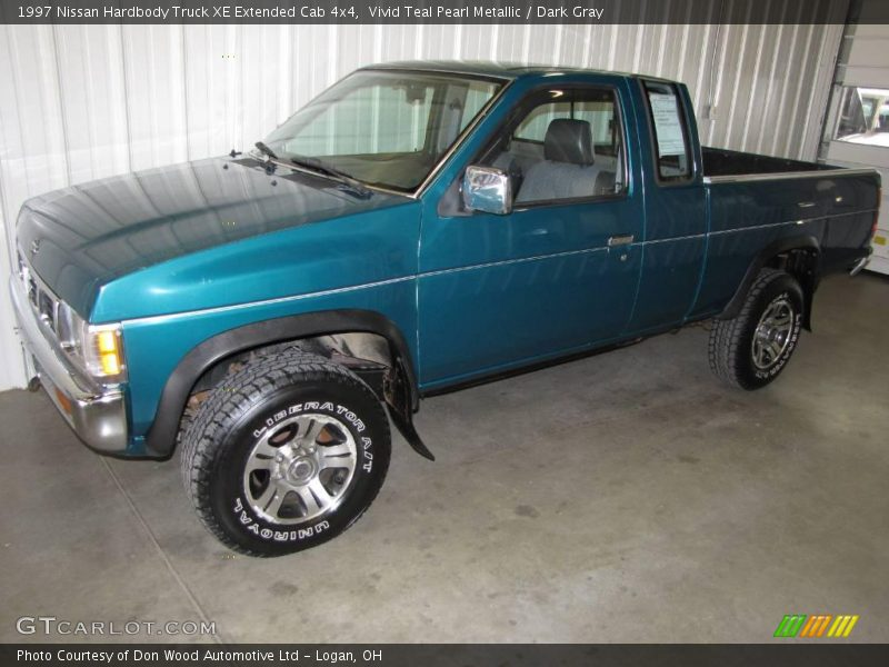 1997 nissan hardbody truck xe extended cab 4x4 in vivid teal pearl metallic photo no 14677028. Black Bedroom Furniture Sets. Home Design Ideas