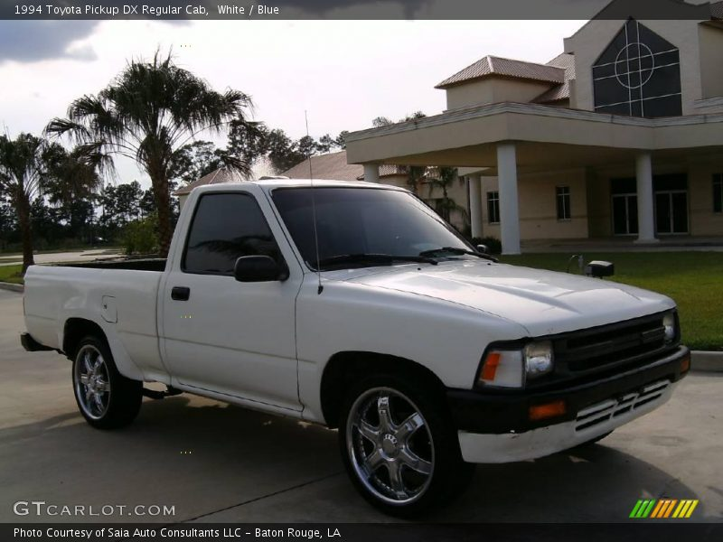 White / Blue 1994 Toyota Pickup DX Regular Cab