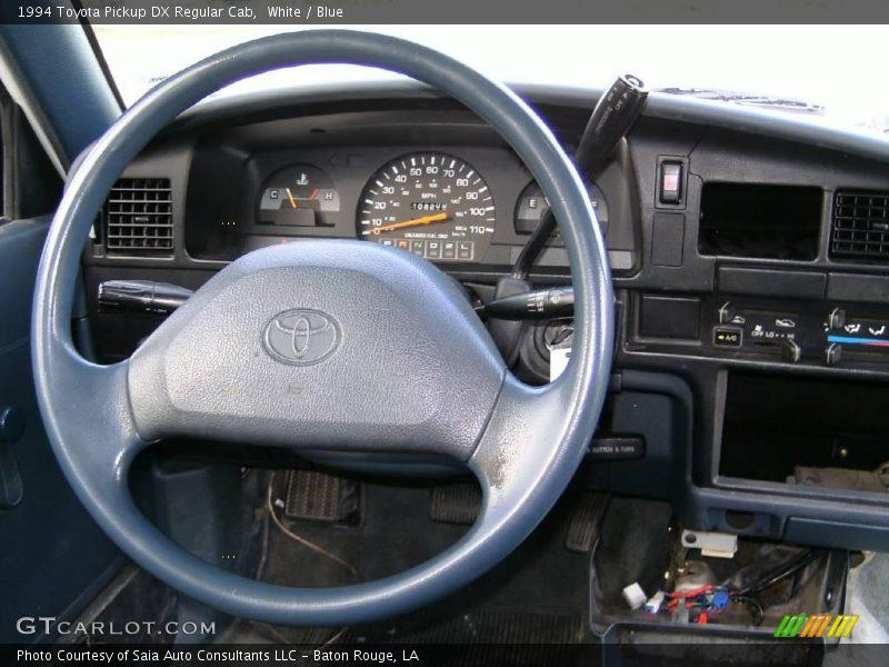 White / Blue 1994 Toyota Pickup DX Regular Cab