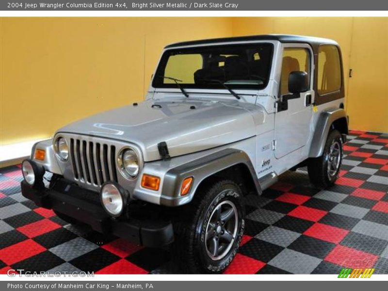 2004 jeep wrangler columbia edition 4x4 in bright silver metallic photo no 14950170. Black Bedroom Furniture Sets. Home Design Ideas