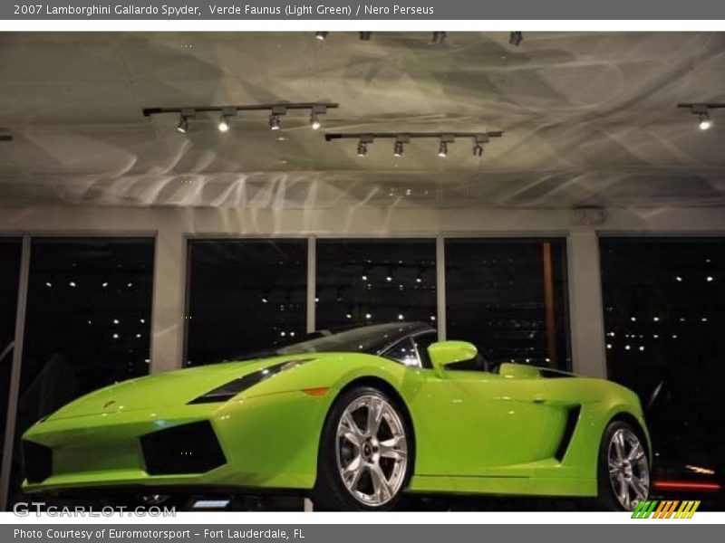Verde Faunus (Light Green) / Nero Perseus 2007 Lamborghini Gallardo Spyder