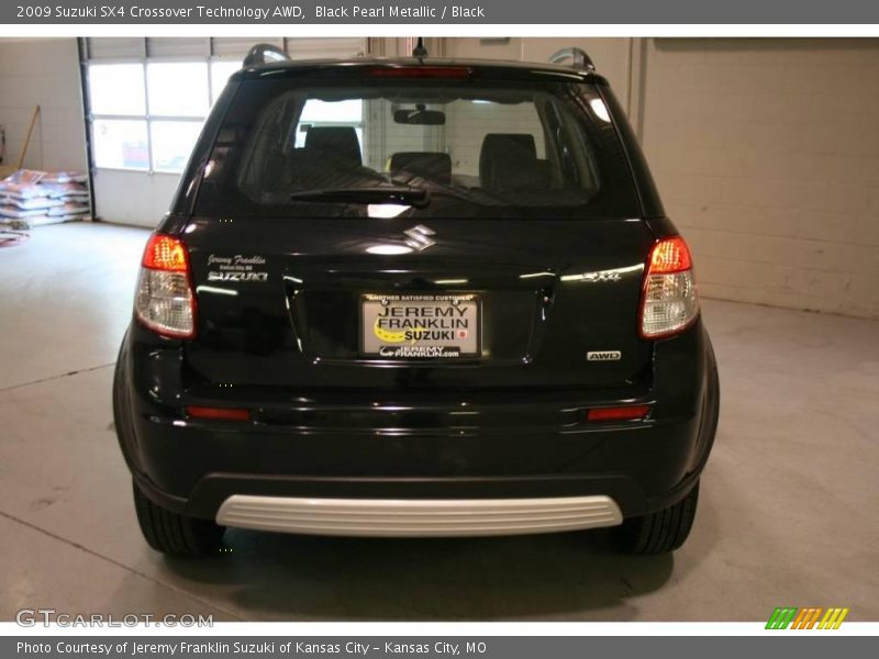 Black Pearl Metallic / Black 2009 Suzuki SX4 Crossover Technology AWD