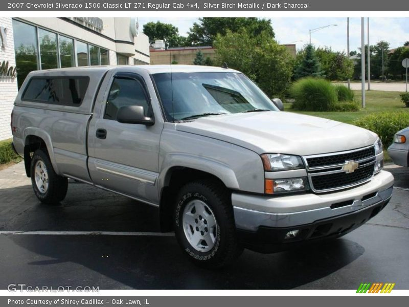 Silver Birch Metallic / Dark Charcoal 2007 Chevrolet Silverado 1500 Classic LT Z71 Regular Cab 4x4