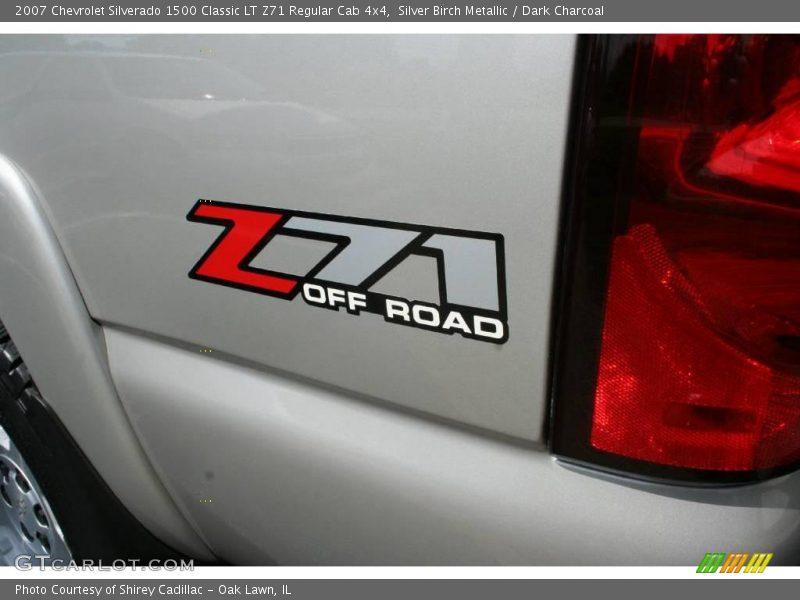 Silver Birch Metallic / Dark Charcoal 2007 Chevrolet Silverado 1500 Classic LT Z71 Regular Cab 4x4
