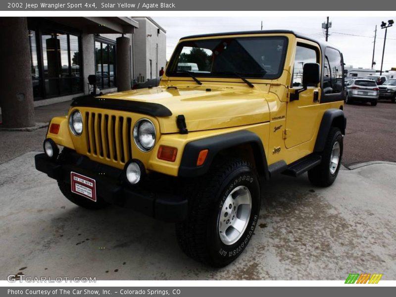 2002 jeep wrangler sport 4x4 in solar yellow photo no. Black Bedroom Furniture Sets. Home Design Ideas