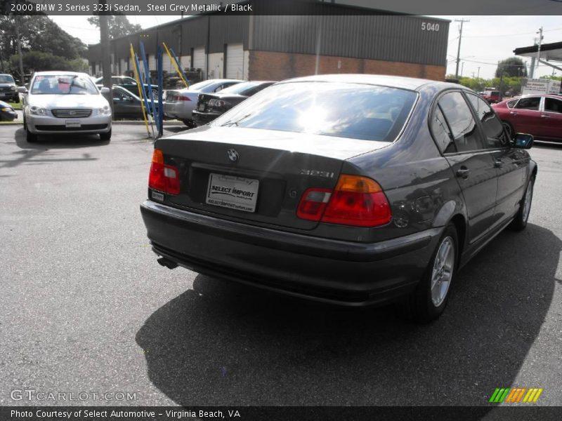 Steel Grey Metallic / Black 2000 BMW 3 Series 323i Sedan