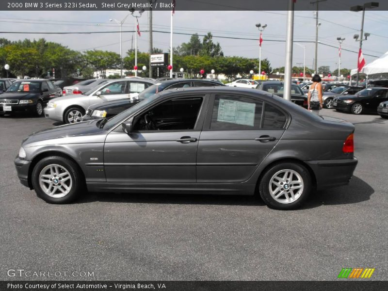 Steel Grey Metallic / Black 2000 BMW 3 Series 323i Sedan