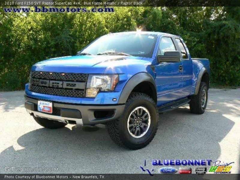 Blue Flame Metallic / Raptor Black 2010 Ford F150 SVT Raptor SuperCab 4x4