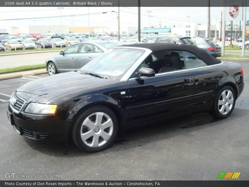 2006 Audi A4 3 0 Quattro Cabriolet In Brilliant Black