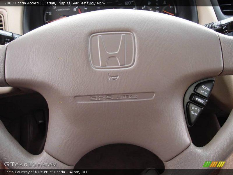 Naples Gold Metallic / Ivory 2000 Honda Accord SE Sedan
