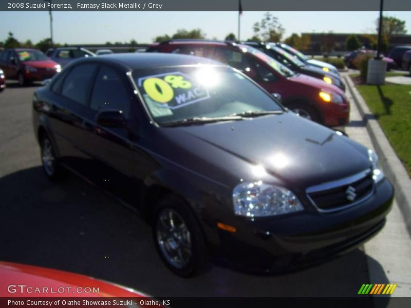 Fantasy Black Metallic / Grey 2008 Suzuki Forenza