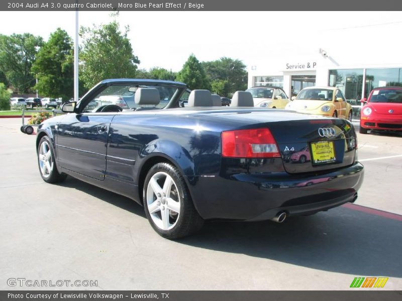 2004 audi a4 3 0 quattro cabriolet in moro blue pearl effect photo no 16482835. Black Bedroom Furniture Sets. Home Design Ideas