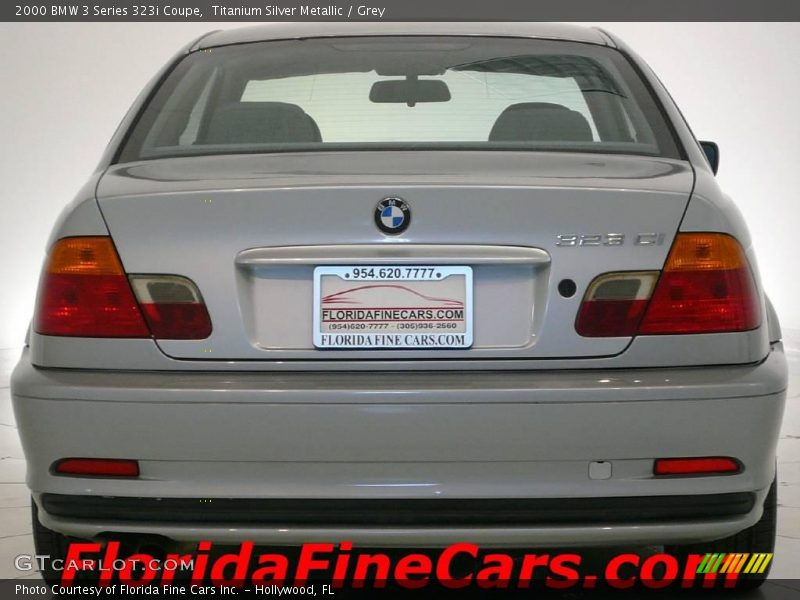 Titanium Silver Metallic / Grey 2000 BMW 3 Series 323i Coupe
