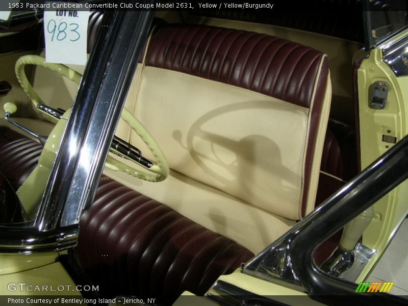 Yellow / Yellow/Burgundy 1953 Packard Caribbean Convertible Club Coupe Model 2631