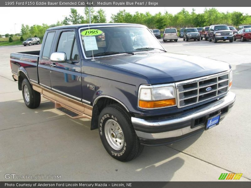 1995 ford f150 eddie bauer extended cab 4x4 in medium royale blue pearl photo no 16610832. Black Bedroom Furniture Sets. Home Design Ideas