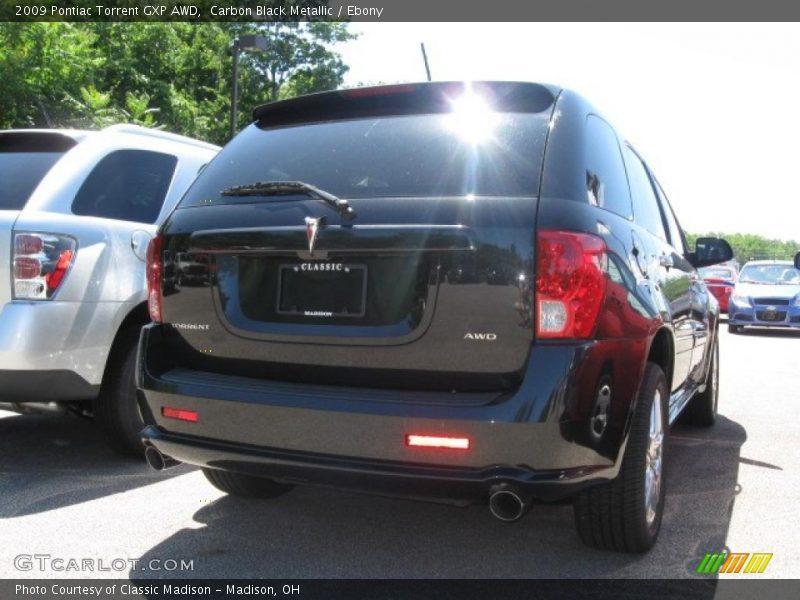 Carbon Black Metallic / Ebony 2009 Pontiac Torrent GXP AWD
