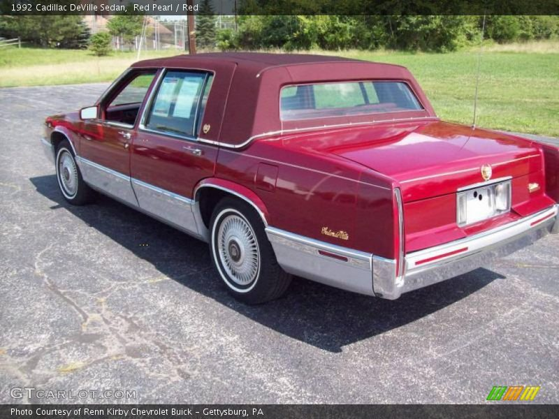 1992 cadillac deville sedan in red pearl photo no. Black Bedroom Furniture Sets. Home Design Ideas