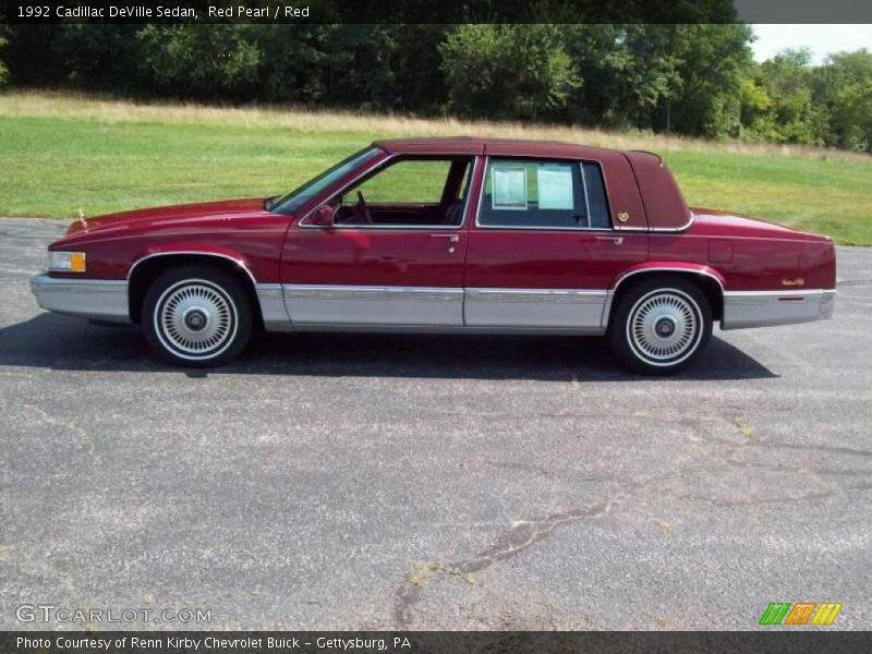 1992 cadillac deville sedan in red pearl photo no. Cars Review. Best American Auto & Cars Review