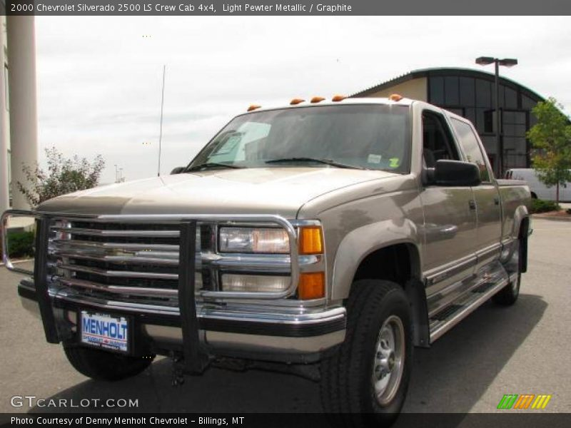 2000 chevrolet silverado 2500 ls crew cab 4x4 in light pewter metallic photo no 16918701. Black Bedroom Furniture Sets. Home Design Ideas