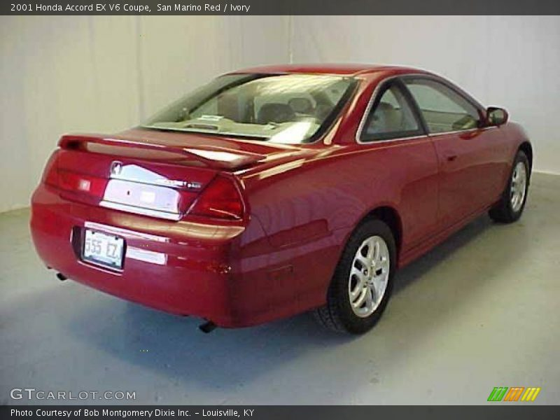 2001 honda accord ex v6 coupe in san marino red photo no 17012235. Black Bedroom Furniture Sets. Home Design Ideas
