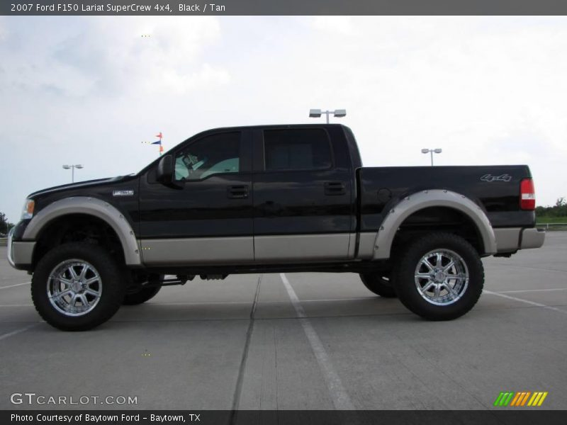 2007 Ford F150 Lariat Supercrew 4x4 In Black Photo No