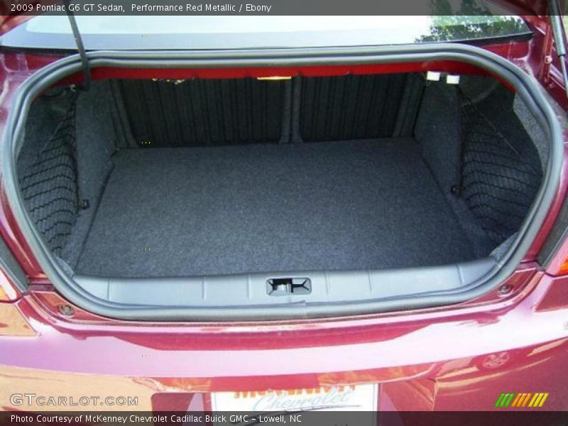 Performance Red Metallic / Ebony 2009 Pontiac G6 GT Sedan