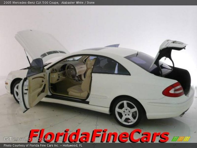 2005 mercedes benz clk 500 coupe in alabaster white photo for G stone motors used cars