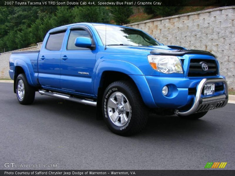 2007 toyota tacoma v6 trd sport double cab 4x4 in speedway blue pearl photo no 17708176. Black Bedroom Furniture Sets. Home Design Ideas