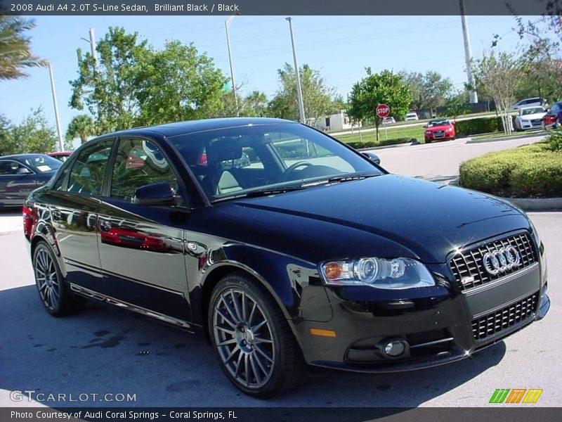 2008 Audi A4 2 0t S Line Sedan In Brilliant Black Photo No