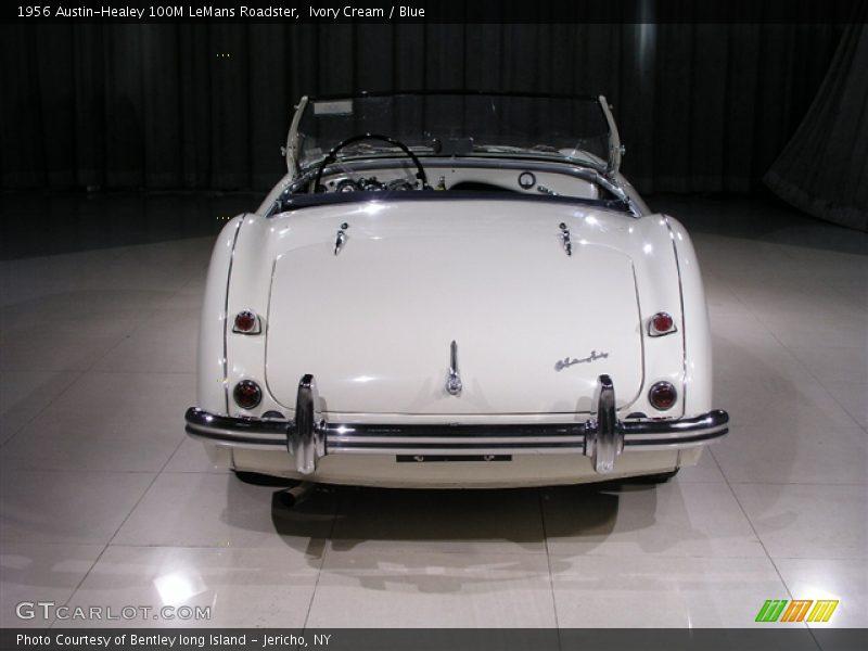Ivory Cream / Blue 1956 Austin-Healey 100M LeMans Roadster
