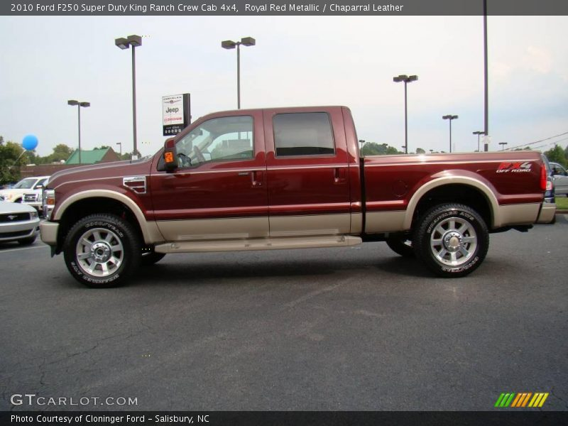 2010 ford f250 super duty king ranch crew cab 4x4 in royal red metallic photo no 18062502. Black Bedroom Furniture Sets. Home Design Ideas