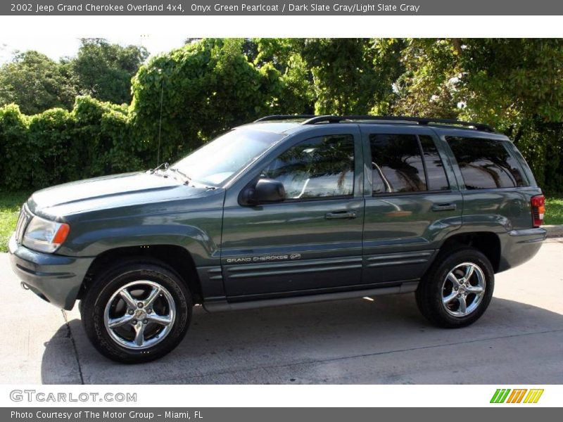 2002 jeep grand cherokee overland 4x4 in onyx green pearlcoat photo no 18068680. Black Bedroom Furniture Sets. Home Design Ideas