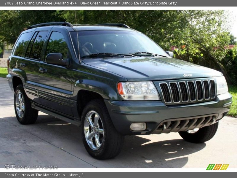 2002 jeep grand cherokee overland 4x4 in onyx green. Black Bedroom Furniture Sets. Home Design Ideas