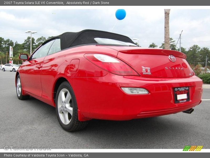2007 toyota solara sle v6 convertible in absolutely red photo no 18188291. Black Bedroom Furniture Sets. Home Design Ideas
