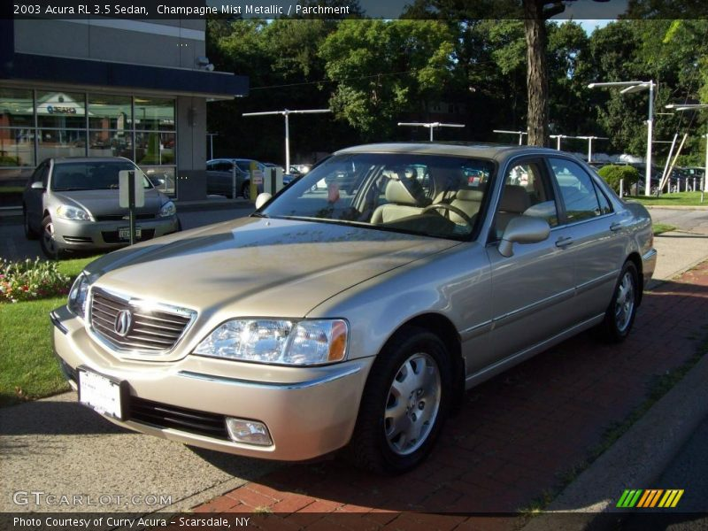 2003 acura rl 3 5 sedan in champagne mist metallic photo. Black Bedroom Furniture Sets. Home Design Ideas