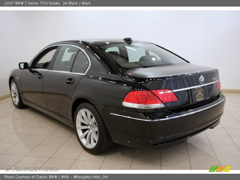 2007 Bmw 7 Series 750i Sedan In Jet Black Photo No