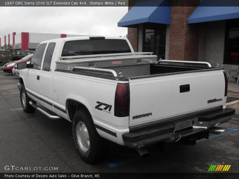 1997 gmc sierra 1500 slt extended cab 4x4 in olympic white photo no 18536824. Black Bedroom Furniture Sets. Home Design Ideas