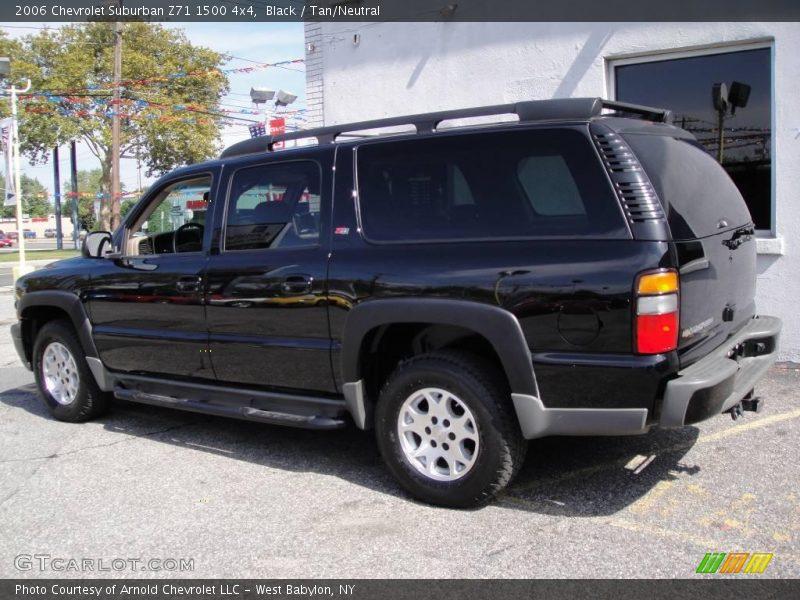 2006 chevrolet suburban z71 1500 4x4 in black photo no 18585381. Black Bedroom Furniture Sets. Home Design Ideas